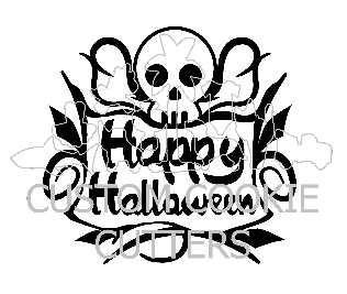 STAMP EMBOSSER HAPPY HALLOWEEN (SKULL)