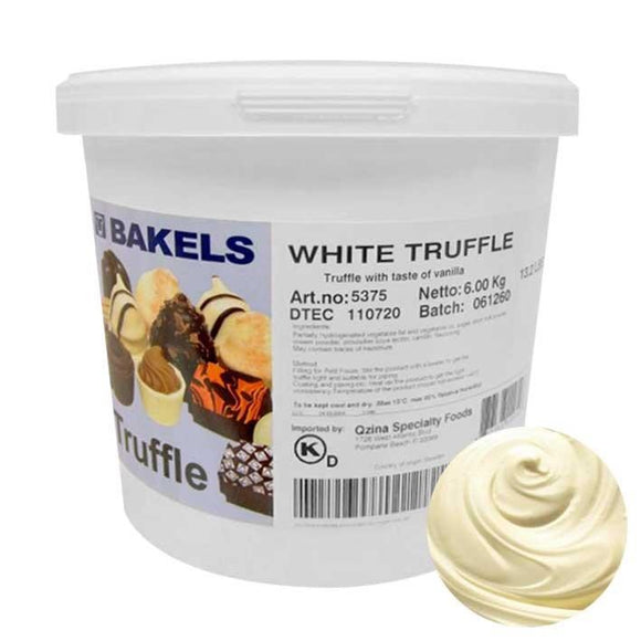 BAKELS WHITE CHOCOLATE TRUFFLE 6KG (FIRM)