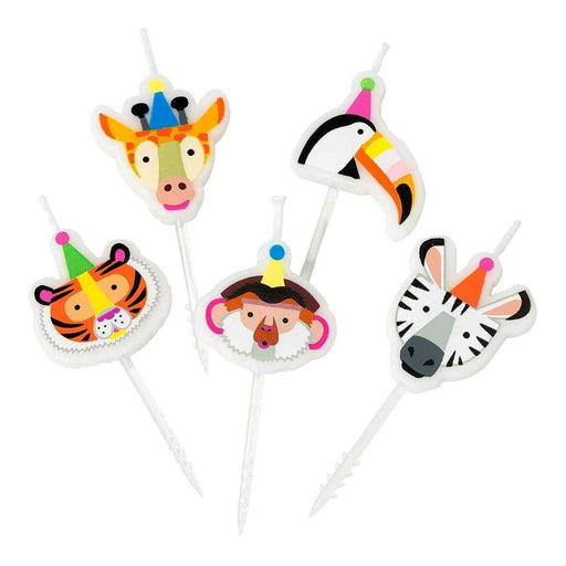 CANDLES PARTY ANIMALS 5PC