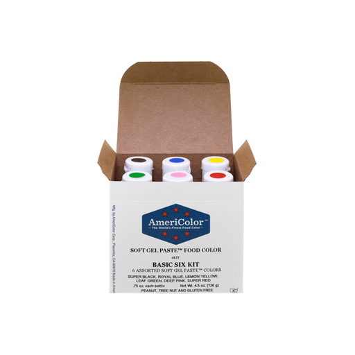 AMERICOLOR GEL COLOUR BASIC KIT 6PC