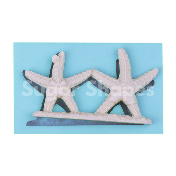 SILICONE MOULD STARFISH BRIDE & GROOM