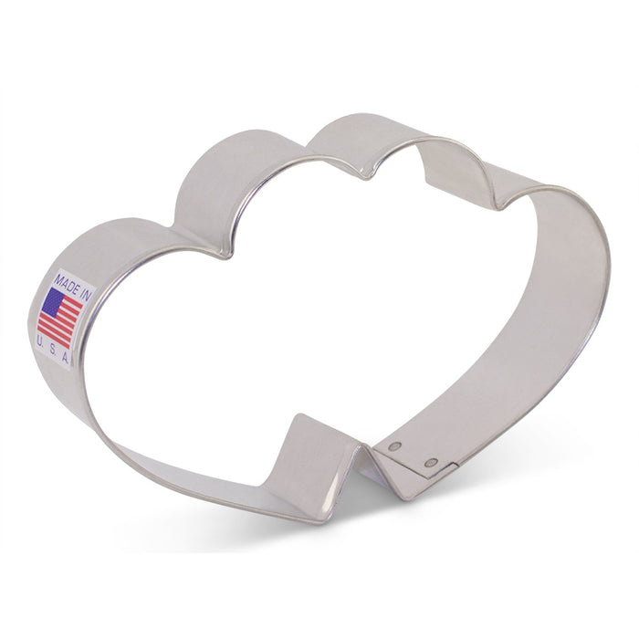 ANN CLARK COOKIE CUTTER DOUBLE HEART 3""