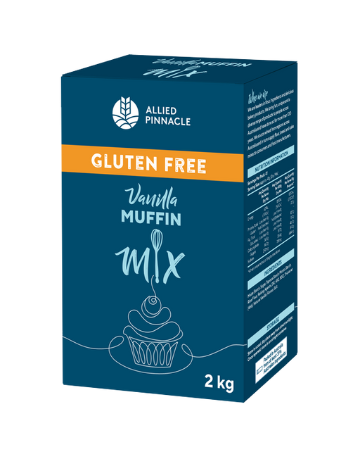 CAKE MIX 2KG ALLIED PINNACLE GLUTEN FREE VANILLA MUFFIN