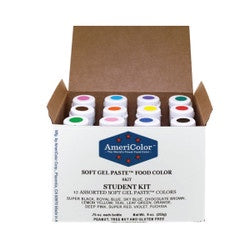 AMERICOLOR GEL COLOUR STUDENT KIT #1 12PC