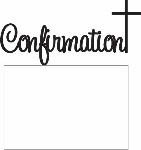TOPPER HANDWRITTEN CONFIRMATION WITH CROSS