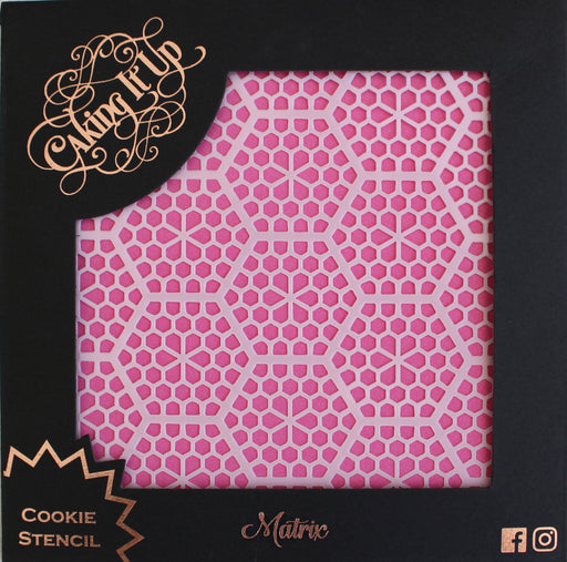 CAKING IT UP COOKIE STENCIL MATRIX