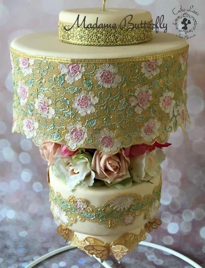 CAKE LACE MAT MADAME BUTTERFLY 3D