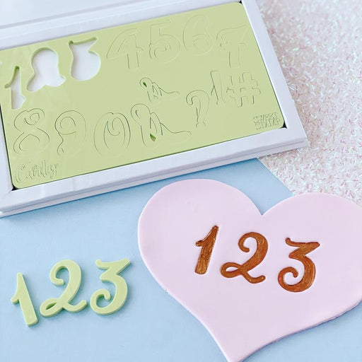 SWEET STAMP CURLY SET NUMBERS & SYMBOLS