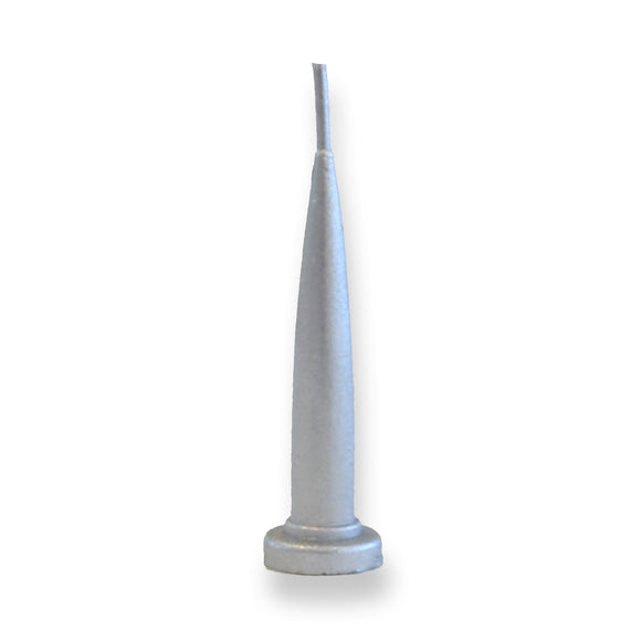 BULLET CANDLE 10PC SILVER