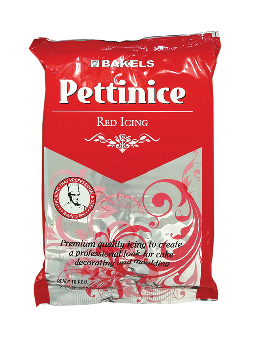 BAKELS PETTINICE FONDANT 750G RED