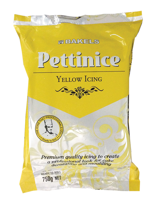 BAKELS PETTINICE FONDANT 750G YELLOW