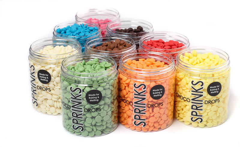 SPRINKS CHOCO DROPS 200G WHITE