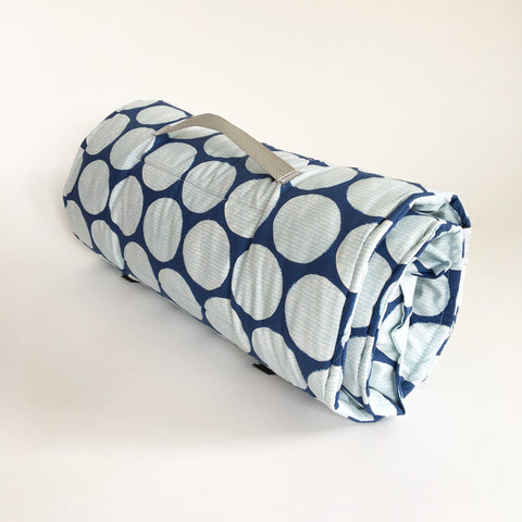 Organic Nap Mat - Blue Fun