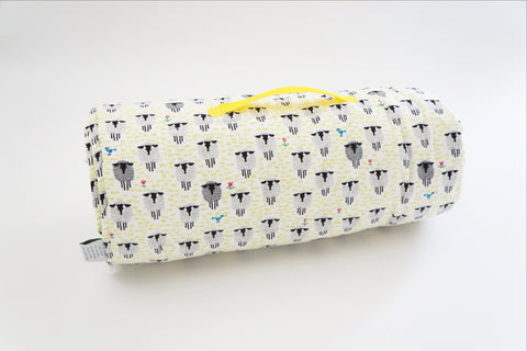 Organic Nap Mat - Sleepy Sheep Citron