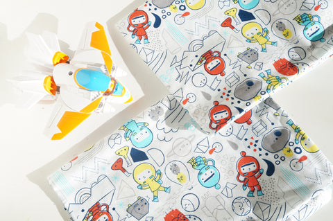 Organic Toddler Pillow Case - Astronauts
