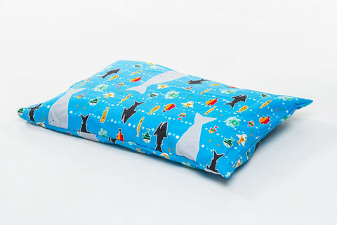 Organic Toddler Pillow Case - Ocean Life