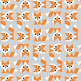 Organic Cotton Lovey Security Blanket Burp Cloth Fox