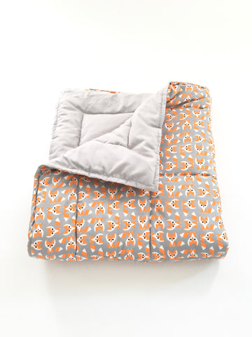 Organic Baby Play Mat/Toddler Comforter - Foxes