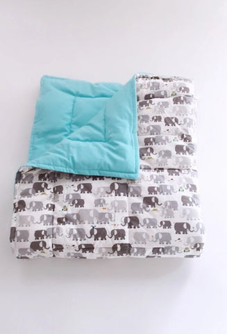 Organic Baby Play Mat/Toddler Comforter - Elephants
