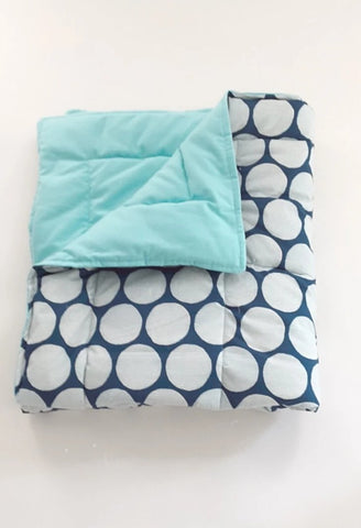 Organic Baby Play Mat/Toddler Comforter - Blue Fun
