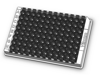 black 96 well zoom plate for fast and easy chemiluminescent and fluorescent dot blot
