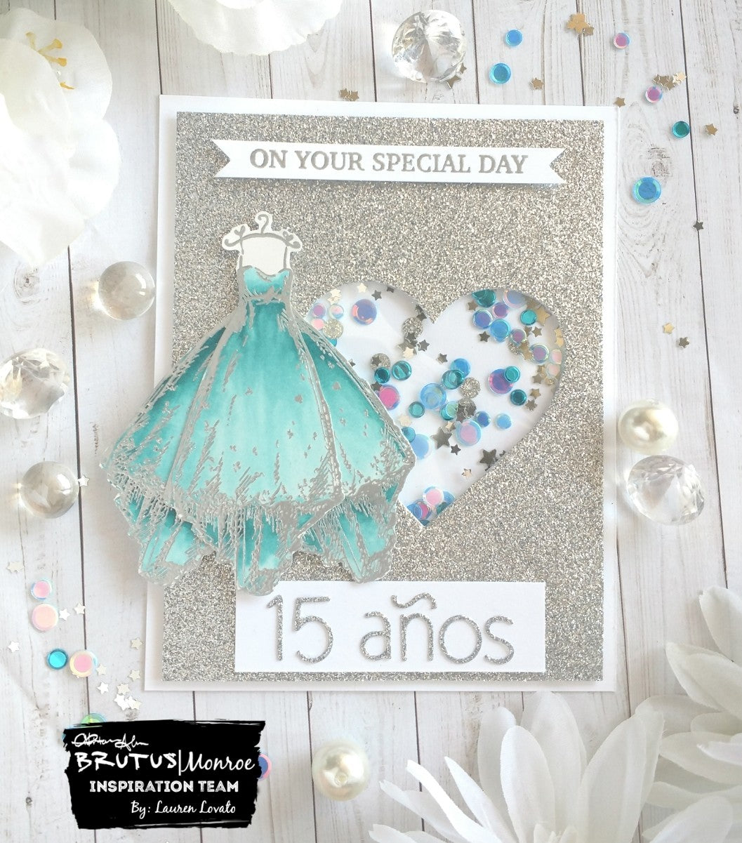 Special Day Dress Card for Quineañera
