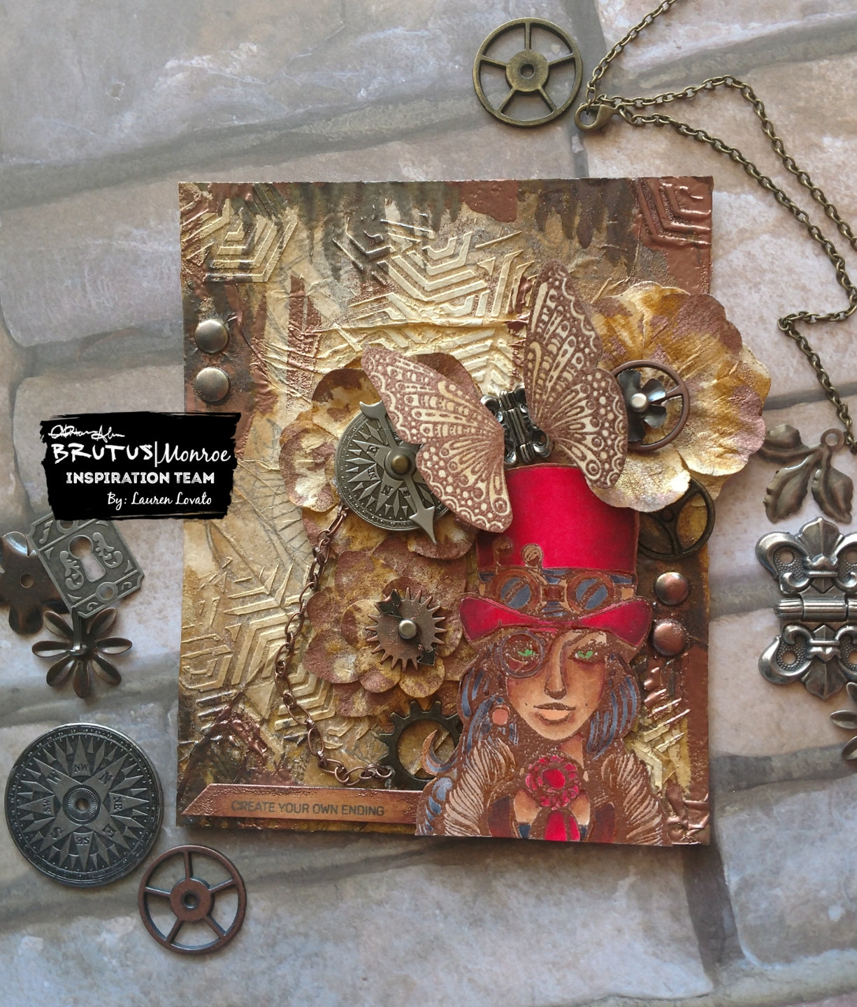Steampunk Mixed Media Card