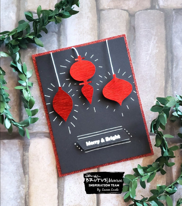 Red Static Foil Ornaments