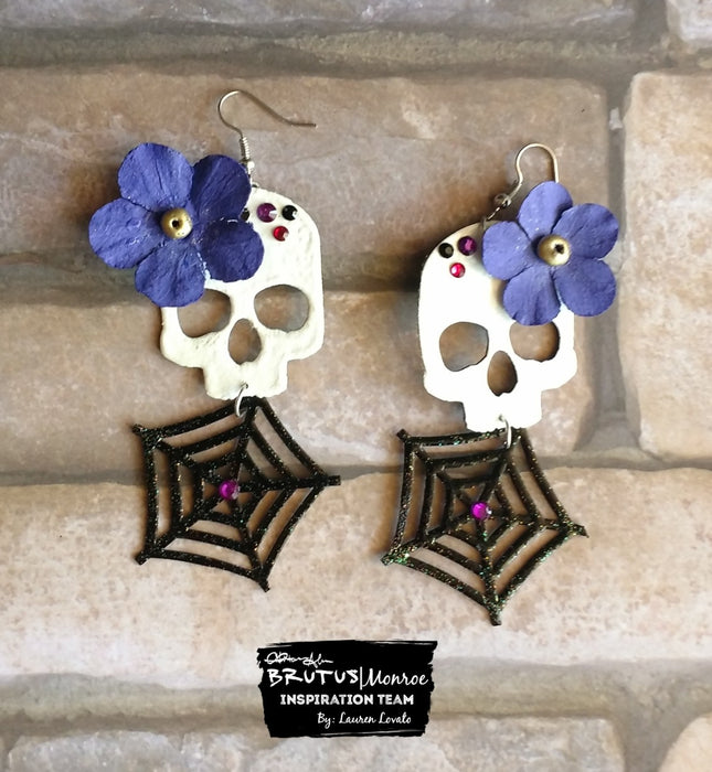 Chipboard Halloween Earrings
