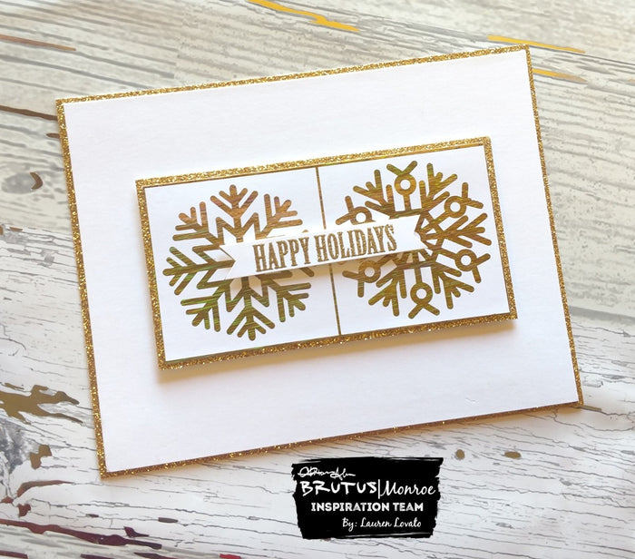 Foiled Snowflakes Card