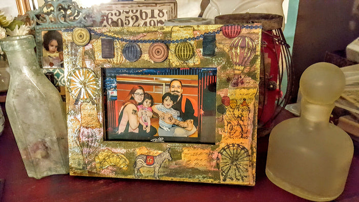 Mixed Media Carnival Frame