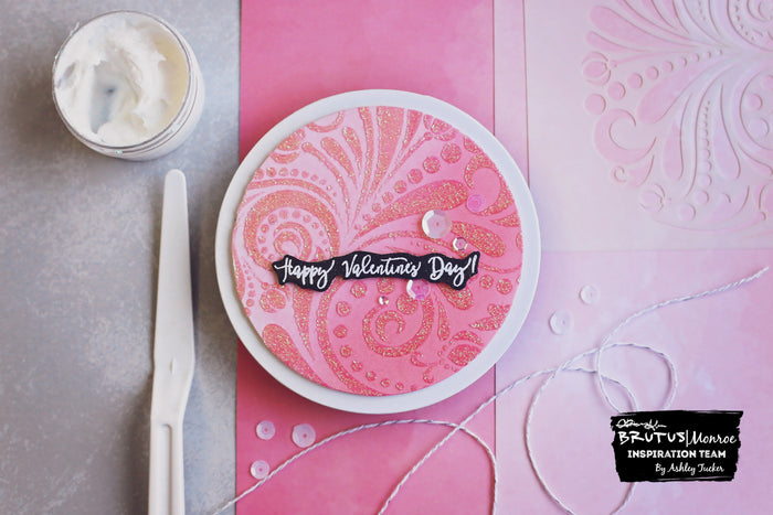Circular Stenciled Valentine | Cards with Ashley
