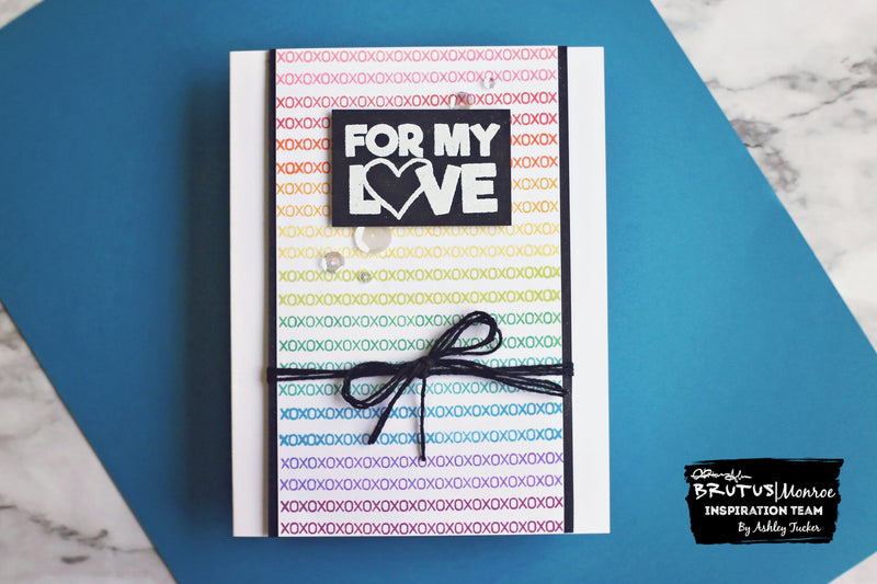 Rainbow Repetitive Stamping | Cards with Ashley