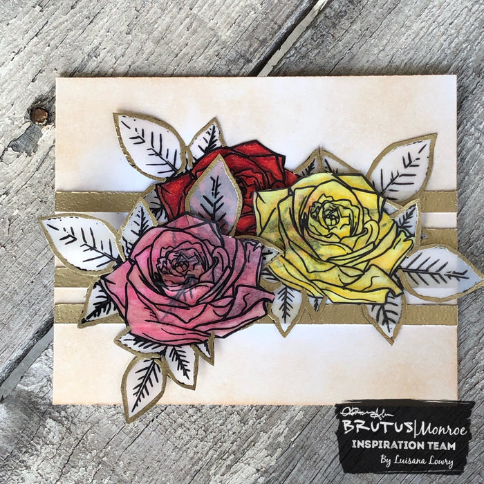 Vintage inspired rose card