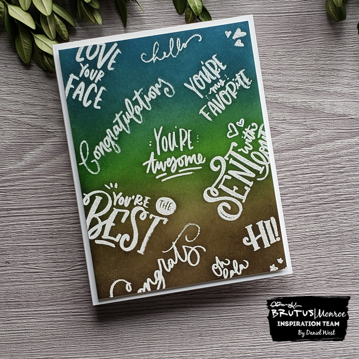Emboss Resist Ink Blended Card