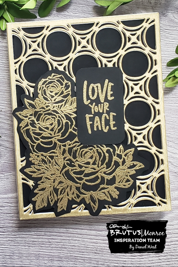 Gilded and Black Anniversary Card
