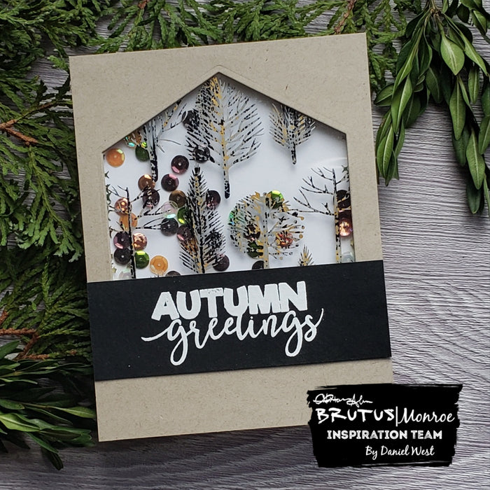 Foiled Autumn Shaker Card