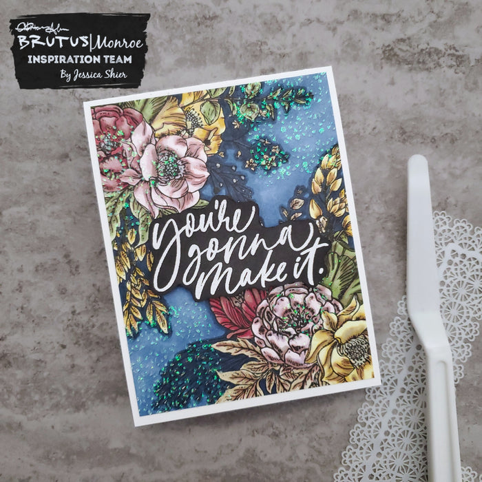 Glitter Glaze Over Your Coloring | January Stencil of the Month