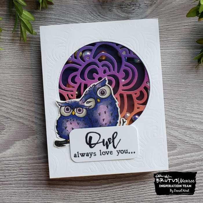 Owl Love You Shaker Card with the July Die Club