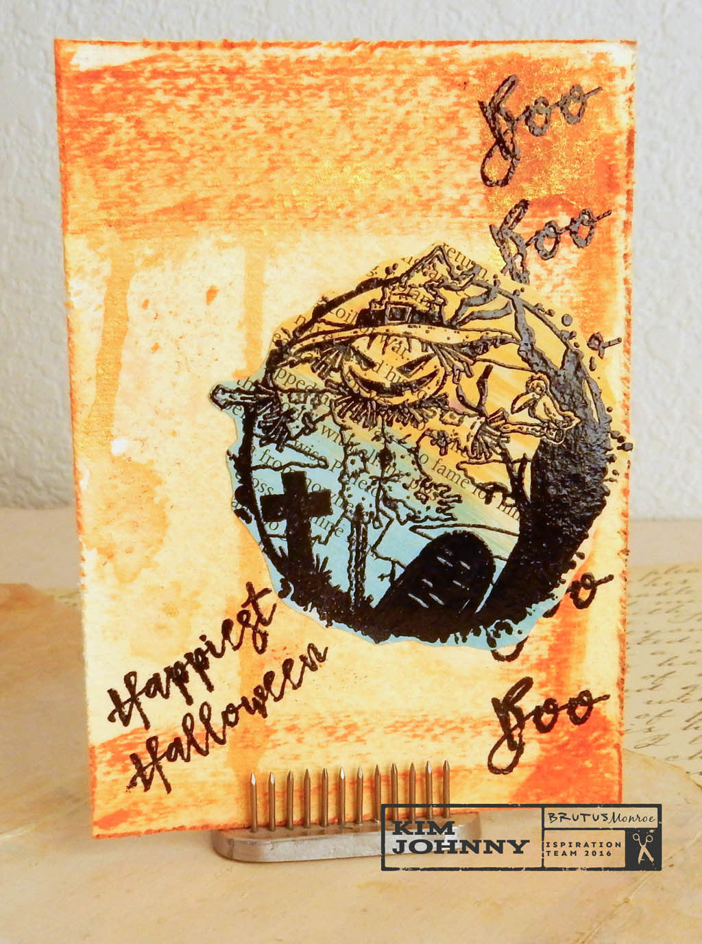Tuesday Playday~Mail Art Chuck Carson Collection Scarecrow