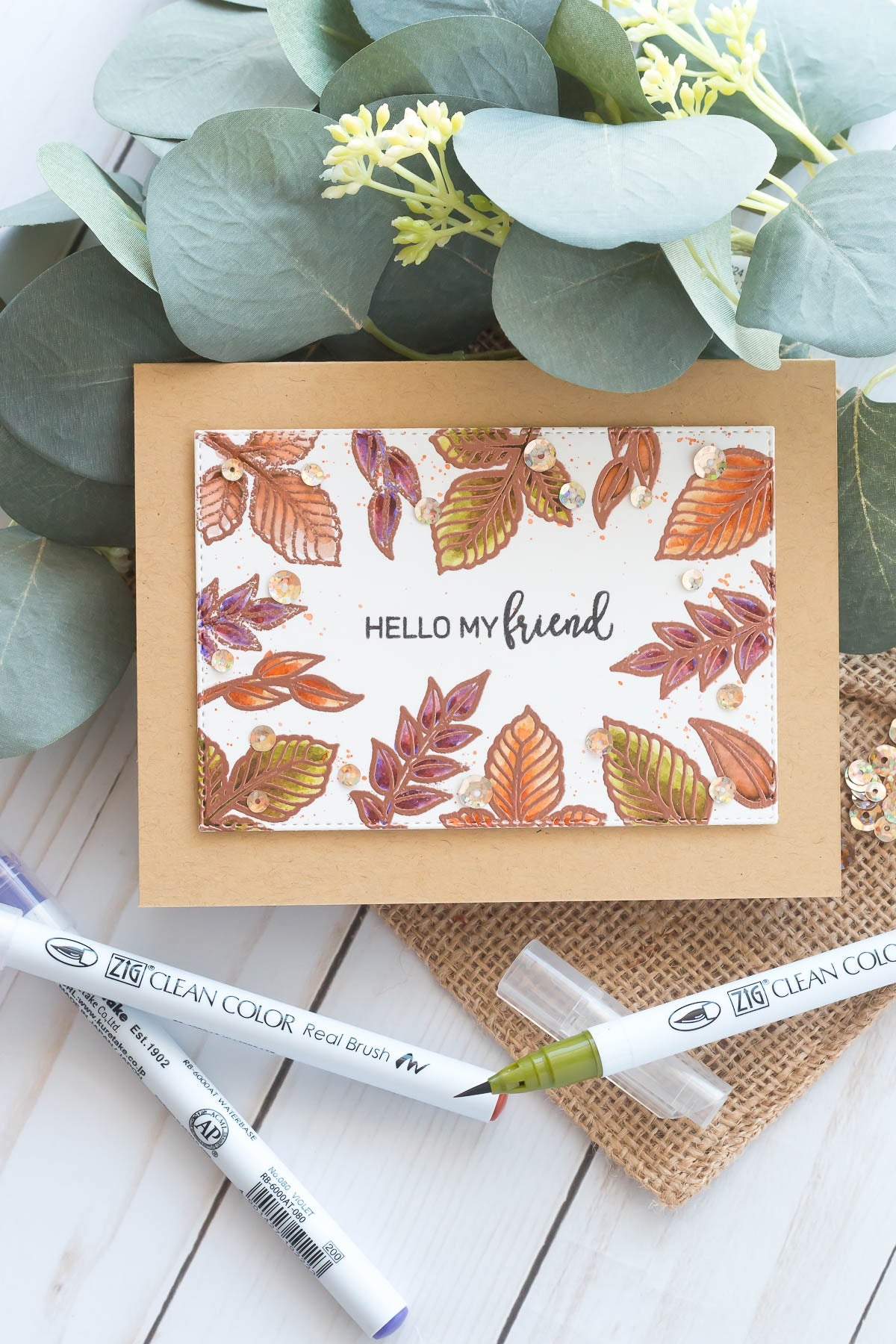 Watercoloring Autumn Leaves