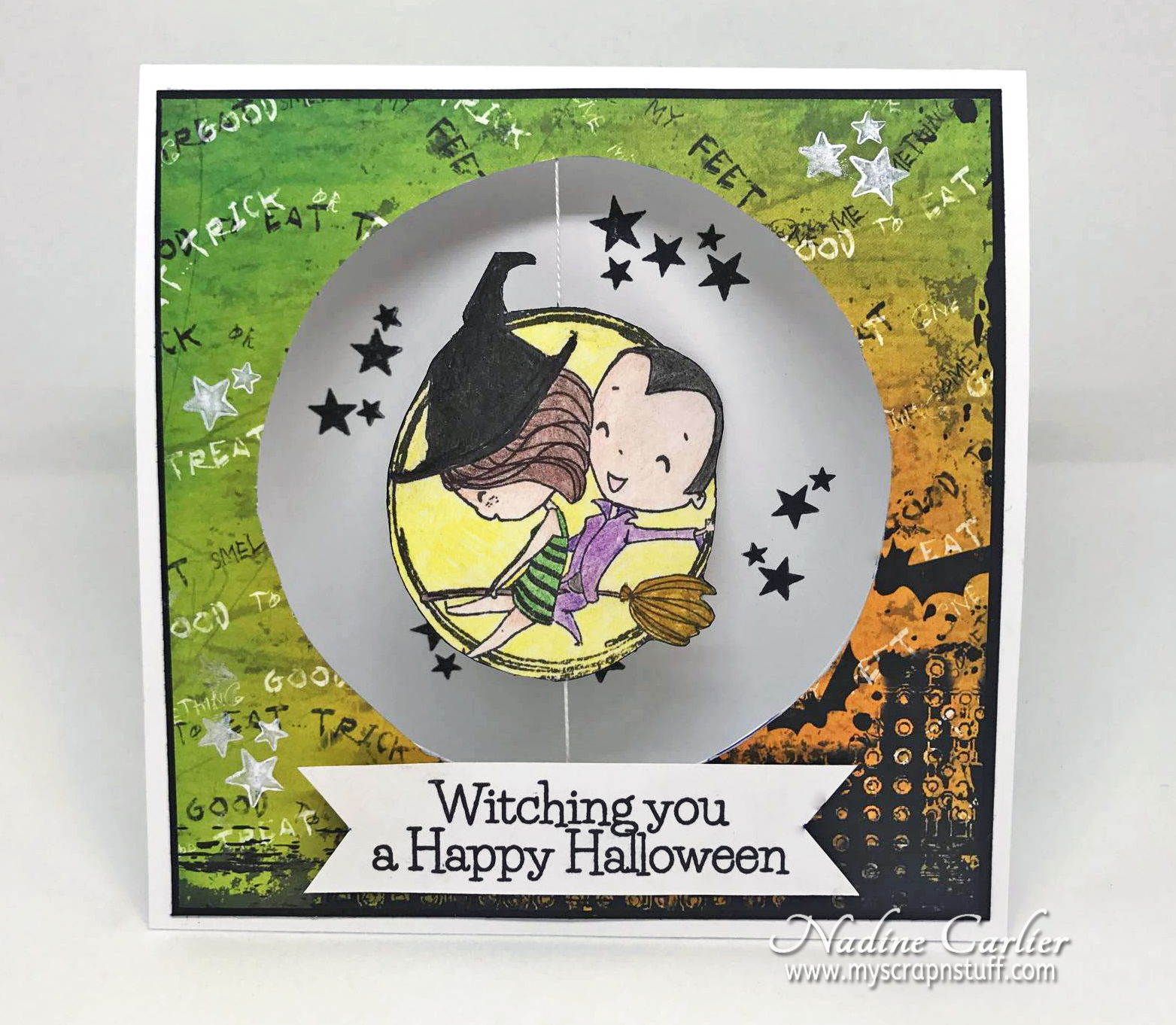 Brutus Monroe True Love Halloween Spinner Card by Nadine Carlier