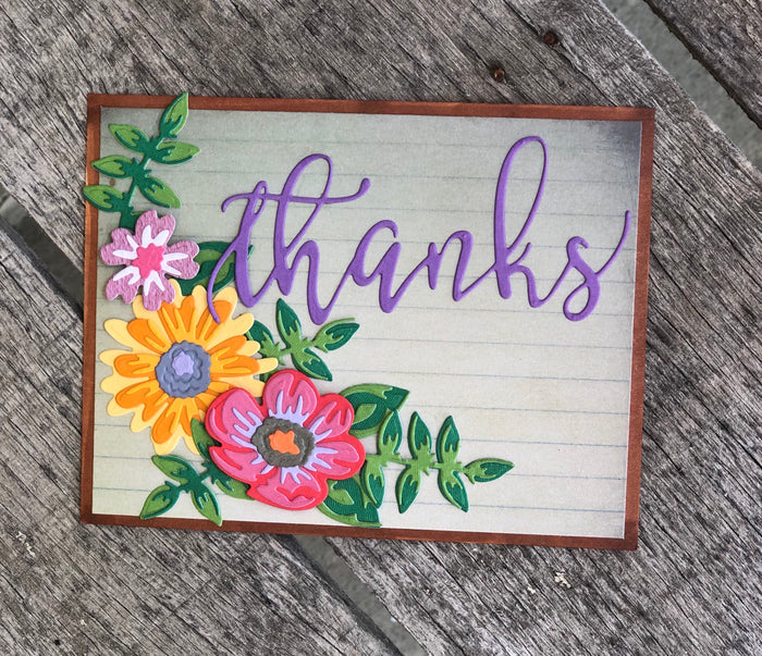 Thanks card using a die