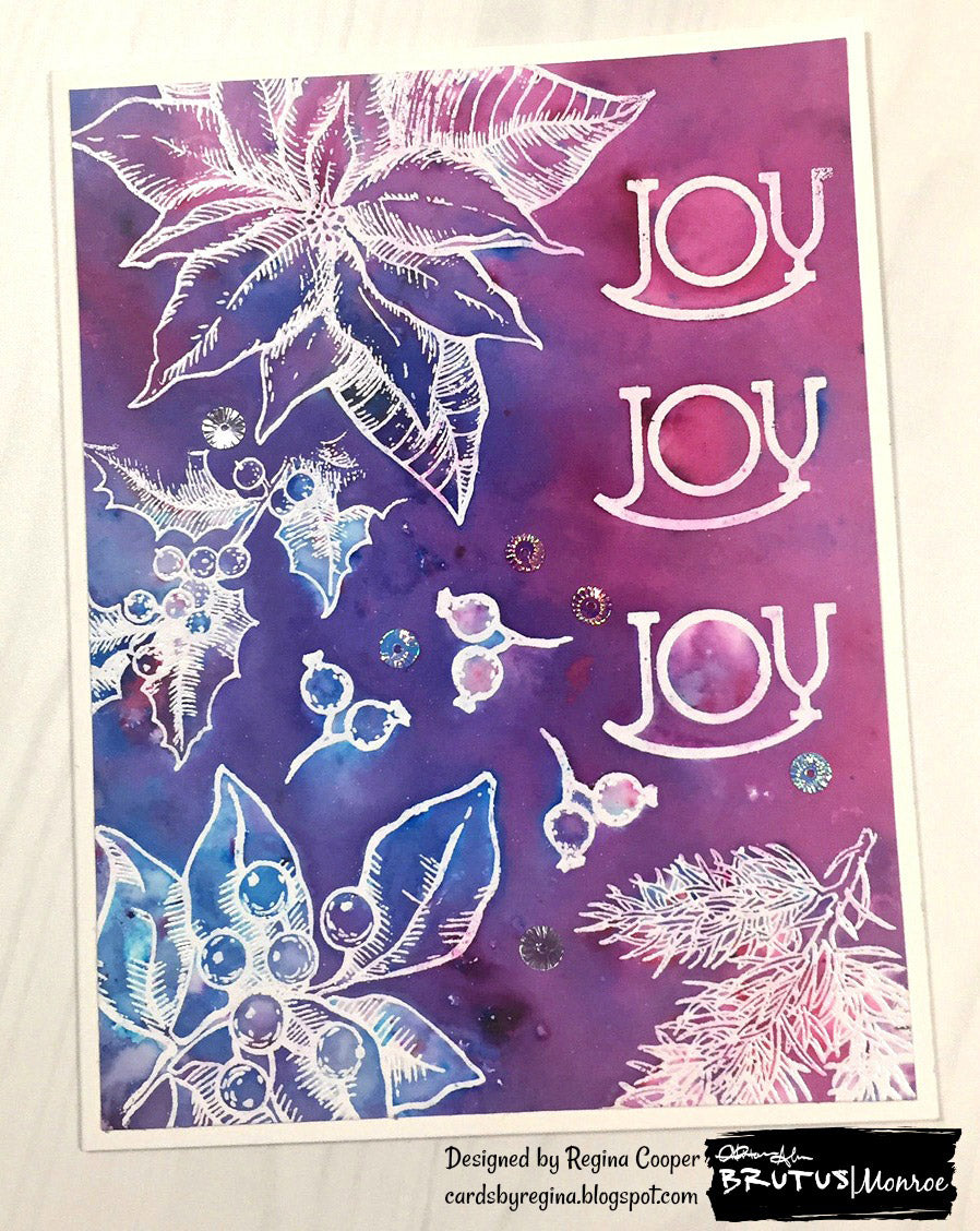 Comfort and Joy Stamp Set with Colorburst