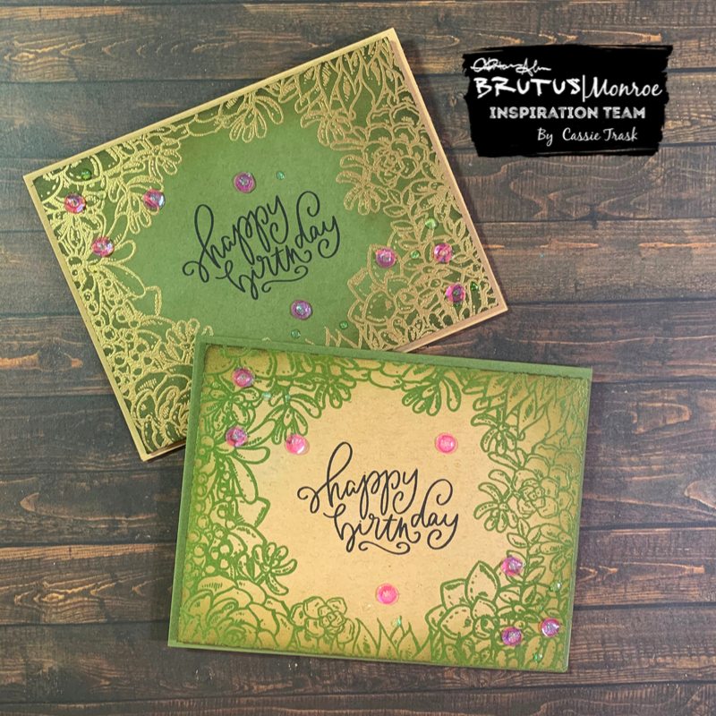 Succulent Border Stamp 2 Ways!