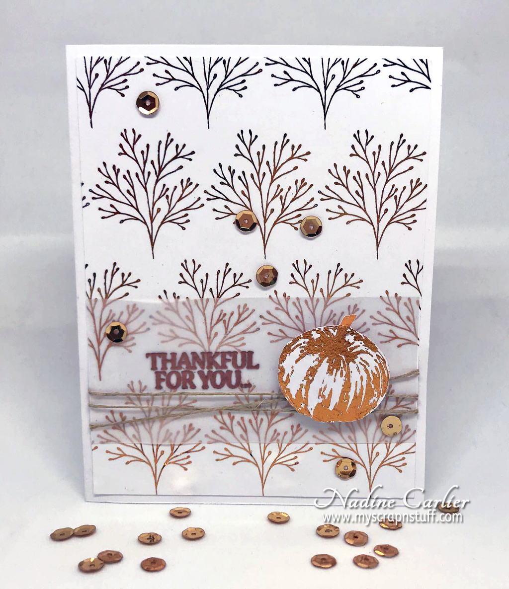 Thankful For Fall Card Using Deco Foil