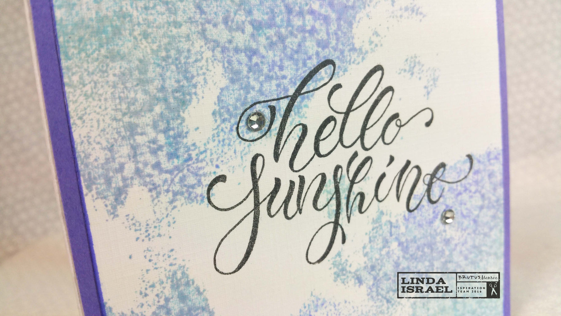 Hello Sunshine A Watercolor Card