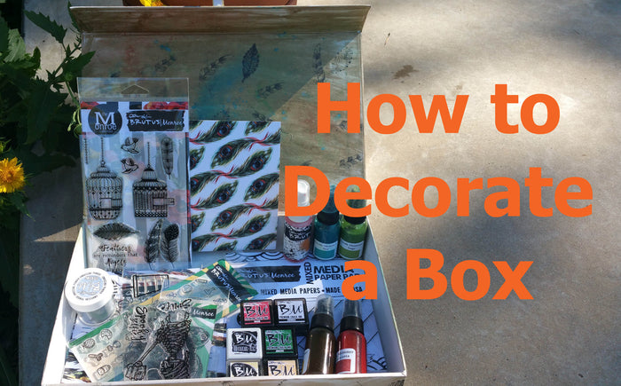 Decorating a box with Brutus Monroe Products