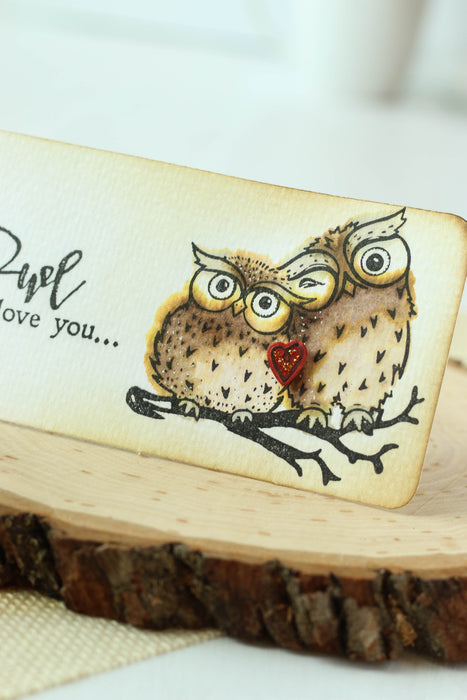 """Owl Always Love You"" Watercolored Tag"