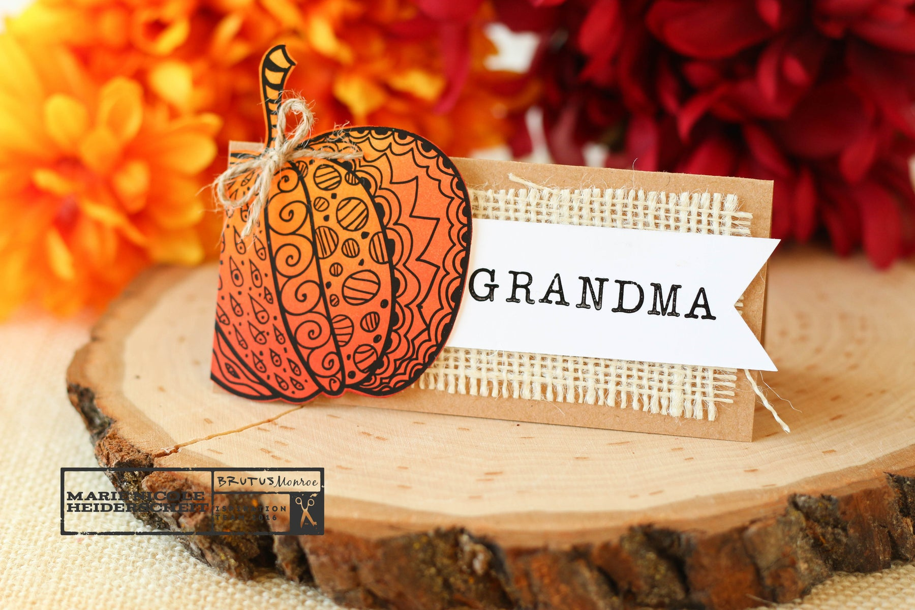 Simple Autumn Place Cards